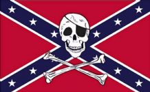REBEL CONFEDERATE PIRATE - 5 X 3 FLAG